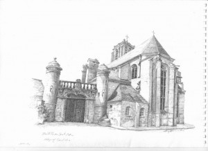 A beautiful drawing of St Bris, by Cris